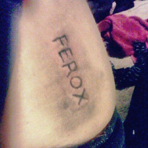 Halsey ferox tattoo