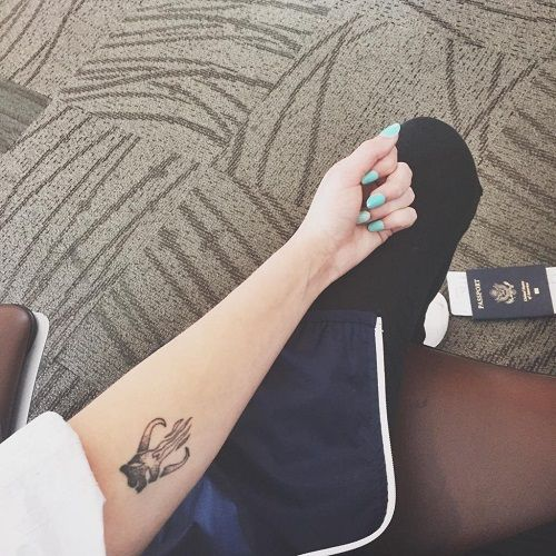 Halsey mythosaur tattoo