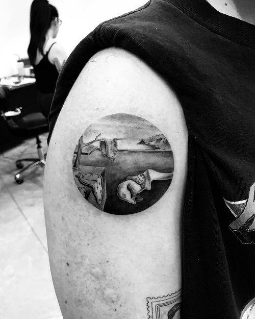 Joe Jonas persistence of memory tattoo