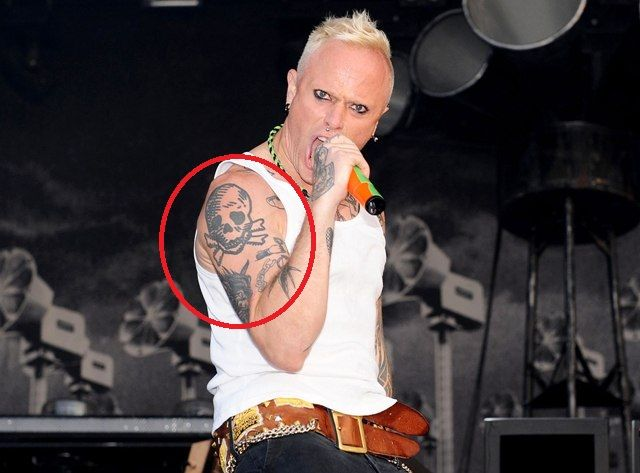 Keith Flint Right Arm Tattoos