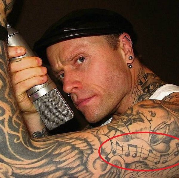 Keith Flint - Music Nodes Tattoo