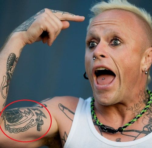 Keith Flint Tattoo - Grenade