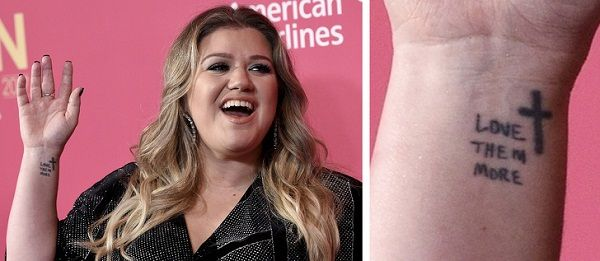 Kelly Clarkson LOVE THEM MORE tattoo (2)