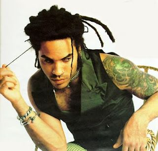 Lenny-Kravitz-Dragon tattoo