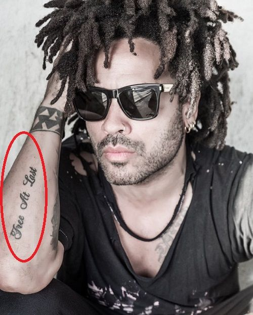 Lenny Kravitz free at last tattoo