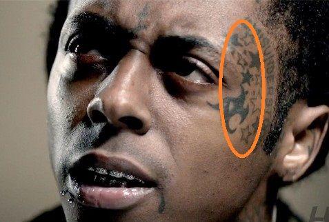 Lil Wayne 9 Star Tattoo