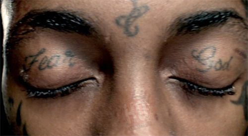 Lil Wayne Fear God tattoo