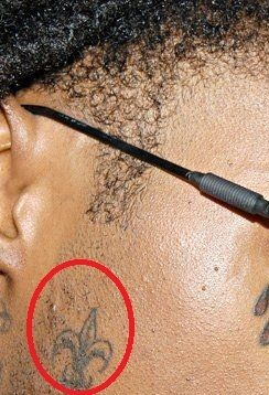 Lil Wayne Fleur-de-lis tattoo