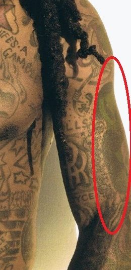 Lil Wayne Green Martian tattoo