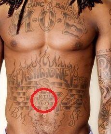 Lil Wayne RIP TB tattoo