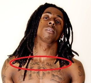 Lil Wayne bang bang tattoo