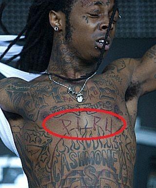 Lil Wayne piru tattoo