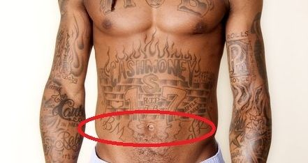 Lil Wayne BM JR tatttoo