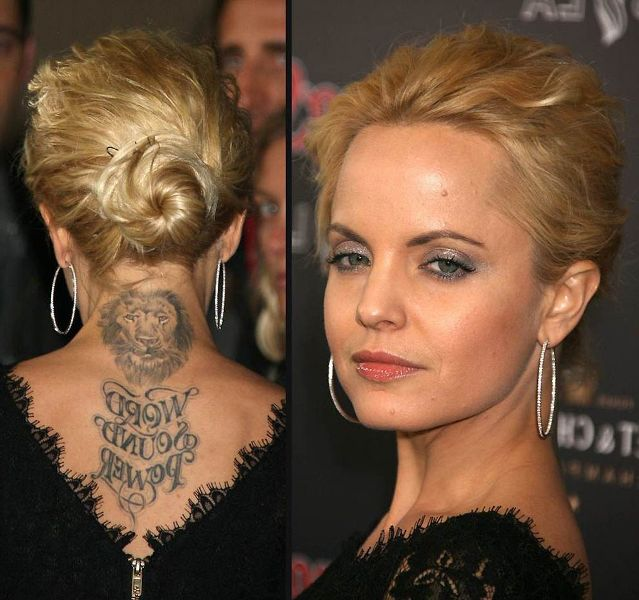 Mena Suvari Lion Tattoo