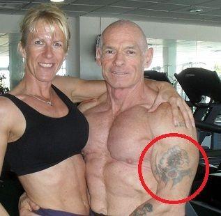 Ray Houghton left arm tattoo