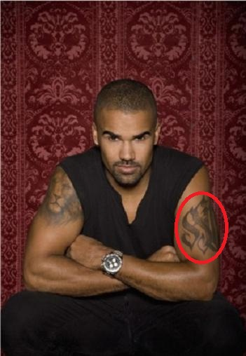 Shemar Moore Arm SM Tattoo