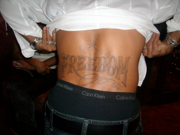 Shemar Moore Freedom Tattoo