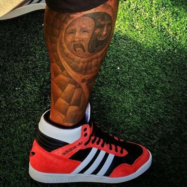 Shemar Moore Leg Tattoo