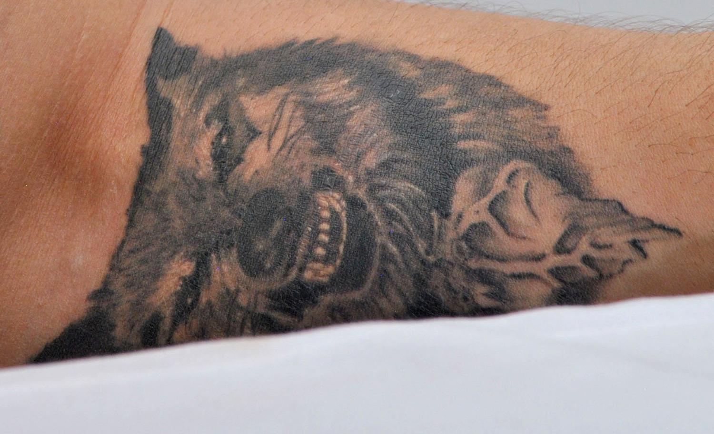 Tom Hardy Angry Wolf Tattoo