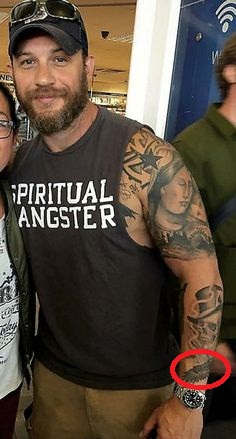 Tom Hardy Feather Tattoo