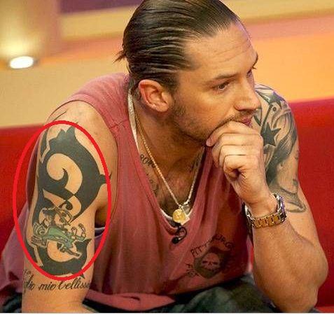 Tom Hardy Leprechaun Tattoo