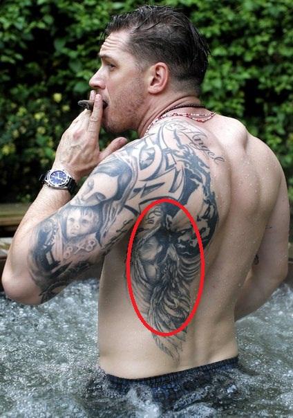 Tom Hardy Portrait Tattoo