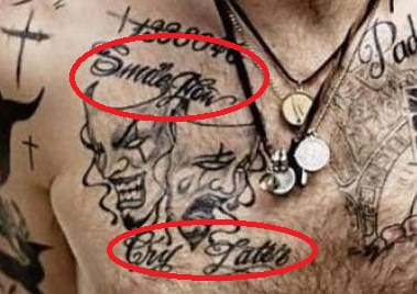 Tom Hardy Smile Now Cry Later Tattoo