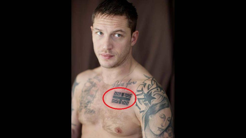 Tom Hardy Union Jack Tattoo