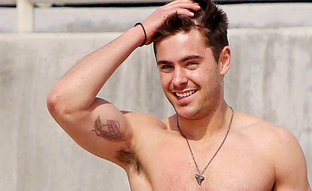Zac Efron Bicep Tattoo