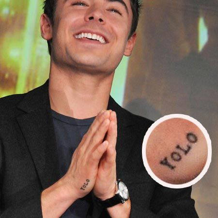 Zac Efron YOLO Tattoo