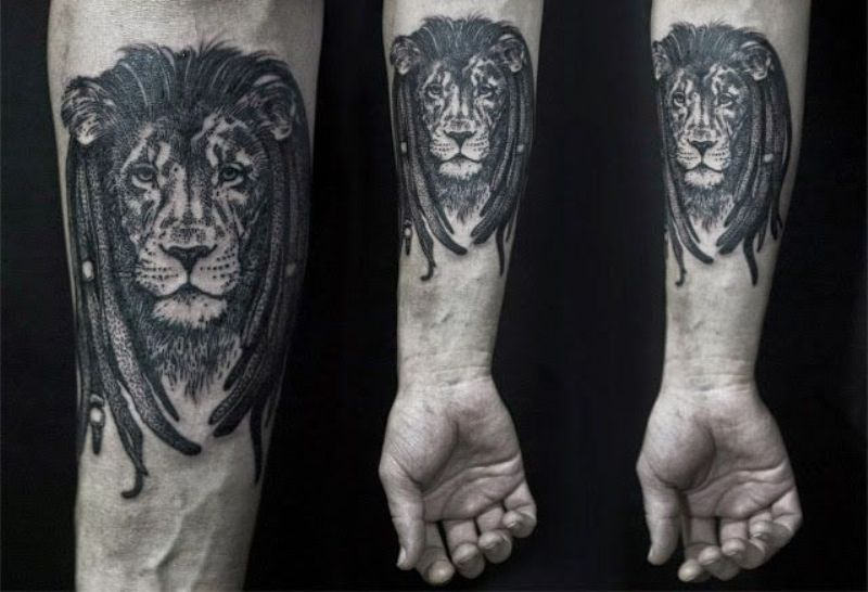 Zion Lion Tattoo