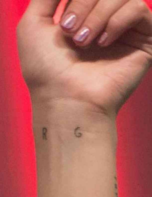 Dua Lipa R and G Tattoo