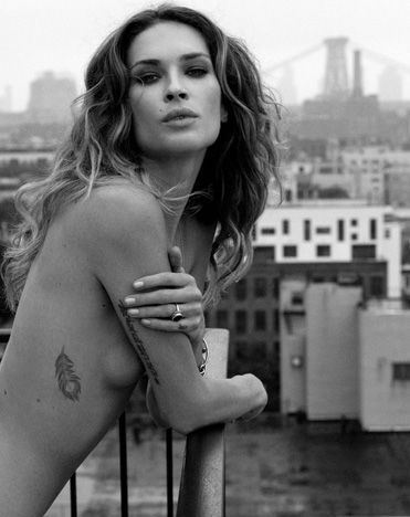 Erin Wasson Feather tattoo