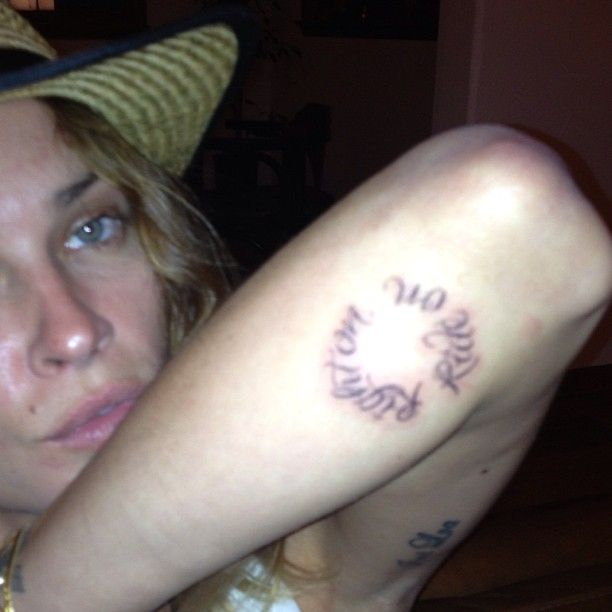 Erin Wasson Right on ride on tattoo