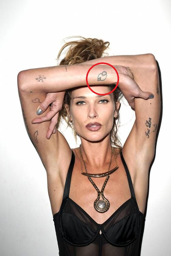 Erin Wasson blob tattoo
