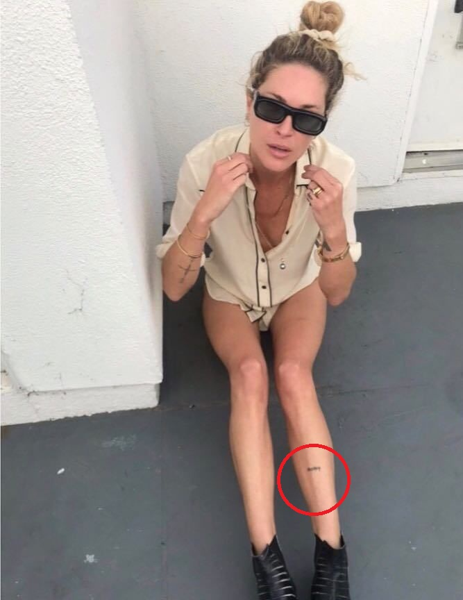 Erin Wasson leg tattoo