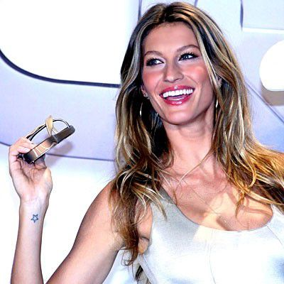 Gisele Bundchen shooting star tattoo
