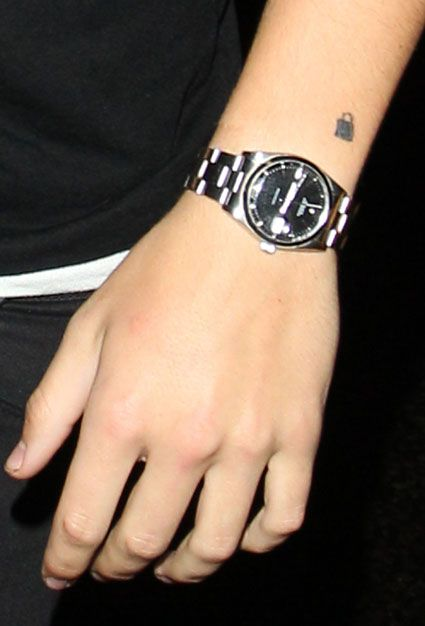 Harry Styles Padlock Tattoo