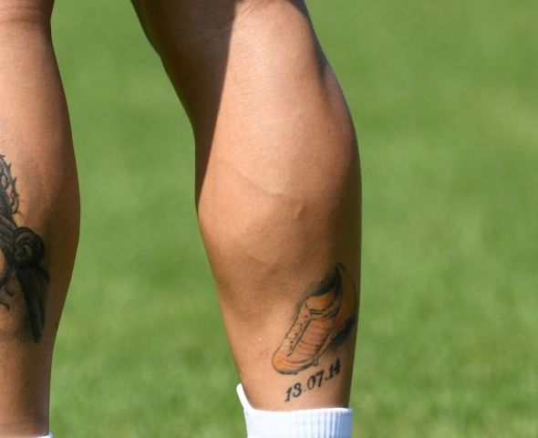James Rodriguez golden boot tattoo