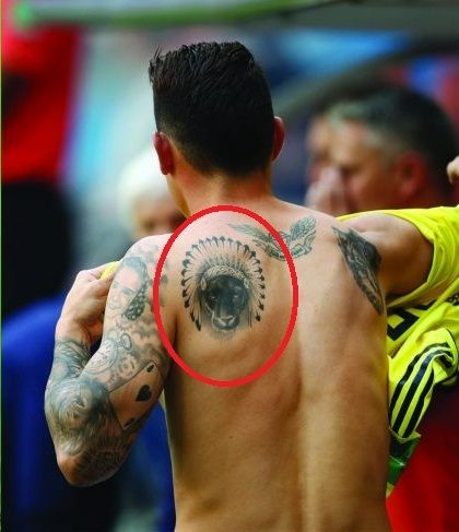 James Rodriguez tribal tattoo