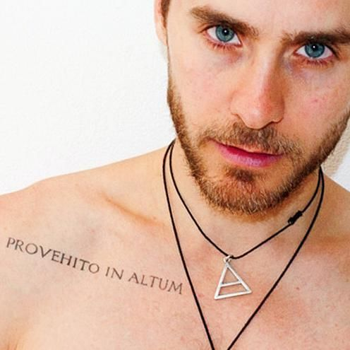 Jared Leto Provehito in Altum tattoo