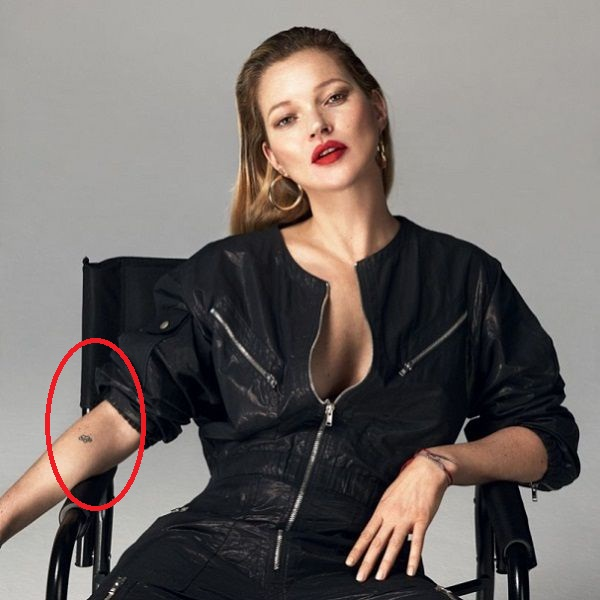 Kate Moss heart with an infinity tattoo