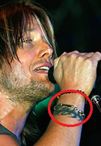 Keith Urban Celtic Symbol Tattoo