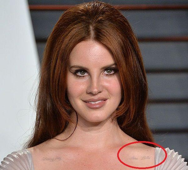 Lana Del Reys Tattoos Their Meanings Body Art Guru