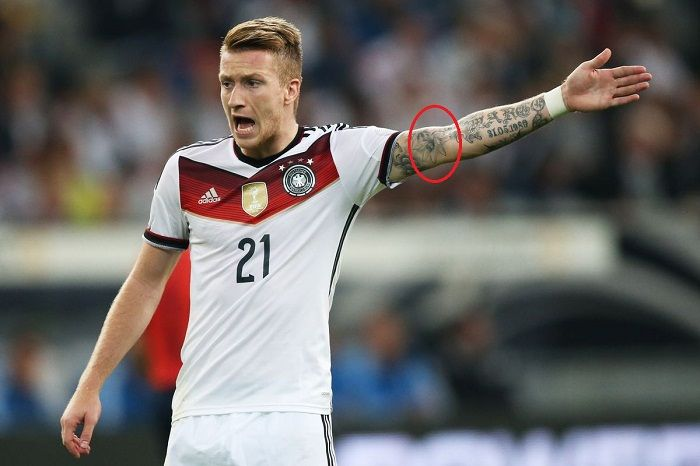 Marco Reus Flower tattoo