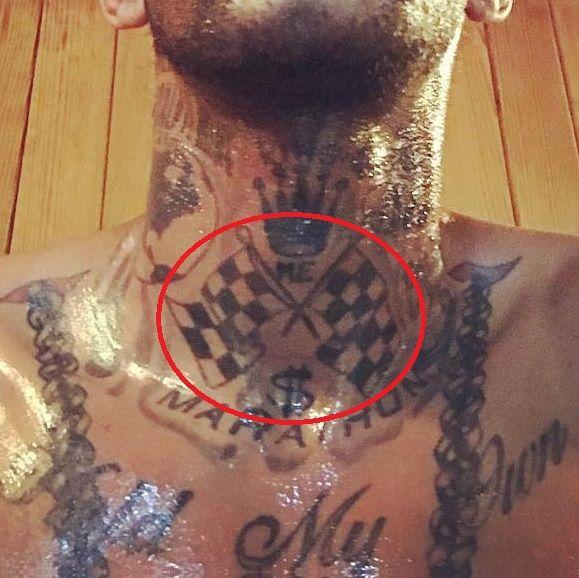 Nipsey Hussle - Racing Flag Tattoo