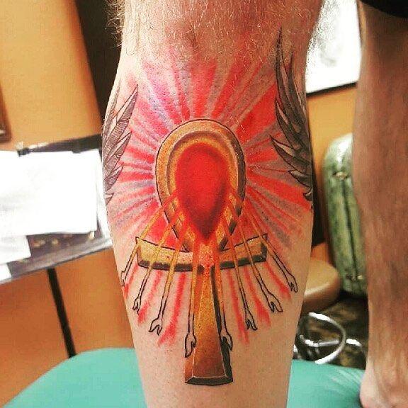 Prince Jackson Ankh Symbol Tattoo