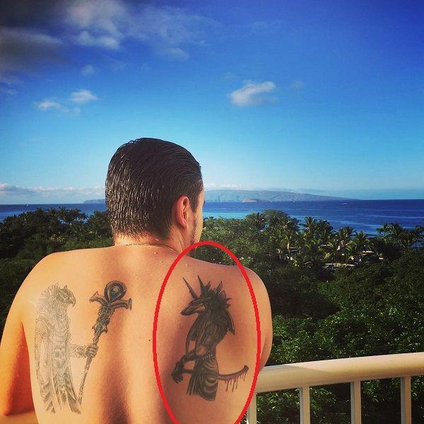 Prince Jackson Anubis tattoo
