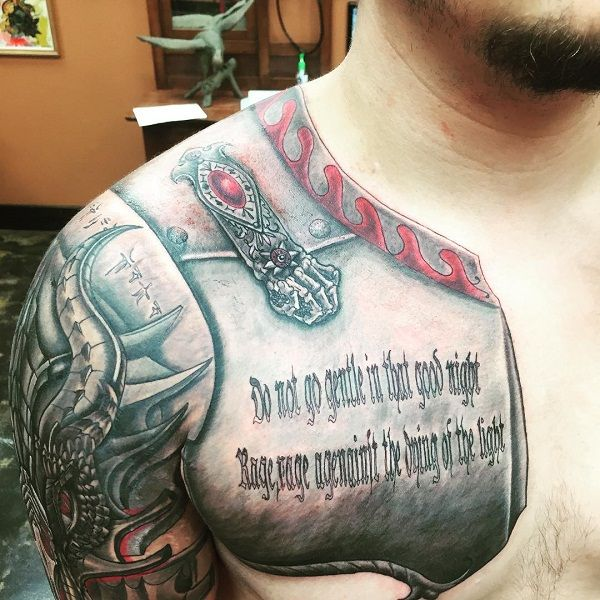 Prince Jackson half an Armour tattoo