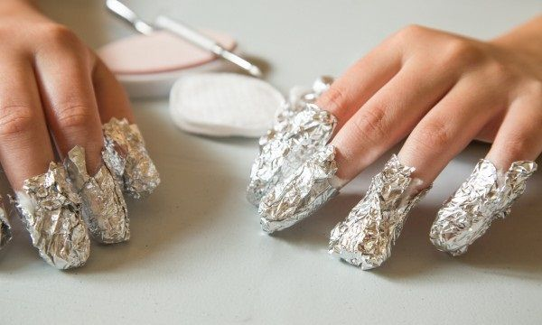 Removal of nail polish-gel manicure